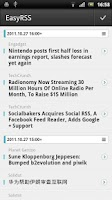 Screenshot of EasyRSS (Google Reader | RSS)