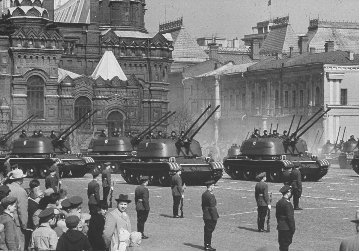 Soviet military prowess on show at the May Day Parade in 1960