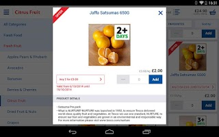 Screenshot of Tesco Groceries (Tablet)
