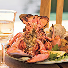 Grilled Split Lobster with Pesto