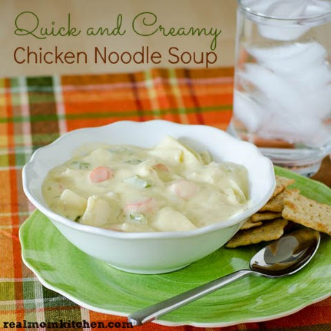 Quick and Creamy Chicken Noodle Soup
