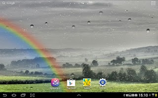 Screenshot of Raindrops Live Wallpaper