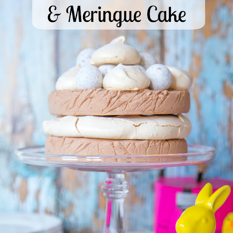 No Churn Chocolate Ice Cream Meringue Gateaux