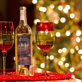 For Mr & Mrs. Clause by R Jay Prusik - Food & Drink Alcohol & Drinks ( wine, xmas, christmas, biltmore estate, bokeh,  )