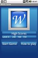 Screenshot of Words Game
