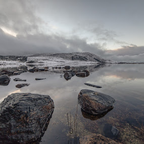 Clouds over Roksøy by Benny Høynes - Landscapes Weather ( water, clouds, reflections, norway )