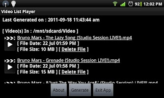 Screenshot of Video List Player