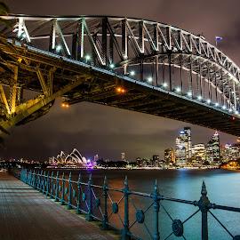 Sydney Bridge by Troy Carroll - Buildings & Architecture Bridges & Suspended Structures ( night, bridge, longexposure, sydney )