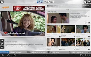 Screenshot of VideoMediaset HD