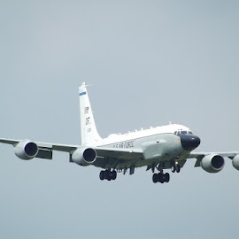 by Danny Fowler - Transportation Airplanes ( air force, landing, aircraft, usa, rivet joint )