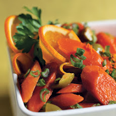 Carrot Salad with Orange, Green Olives, and Green Onions