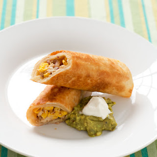 Crispy Pan-Fried Chicken Flautas