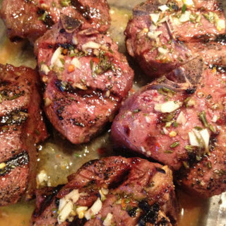Lemon Rosemary Grilled Lamb Loin Chops