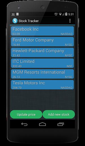 Stock Tracker - screenshot