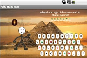 Screenshot of Giza Hangman