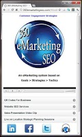 Screenshot of 360 eMarketing SEO Mobile