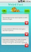 Screenshot of Weird Fact