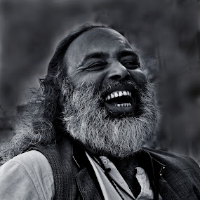 riot of laughter by Arnab Bhattacharyya - People Portraits of Men
