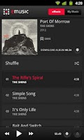 Screenshot of eMusic