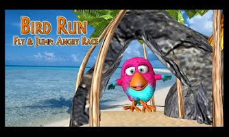 Screenshot of Bird Run, Fly&Jump: Angry Race