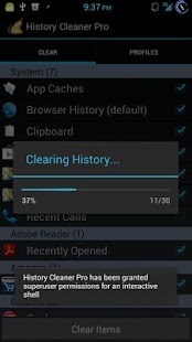 History Cleaner Pro for Root - screenshot