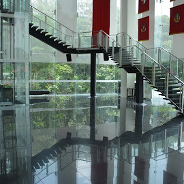 Steps Reflection by Alan Chew - Buildings & Architecture Bridges & Suspended Structures (  )