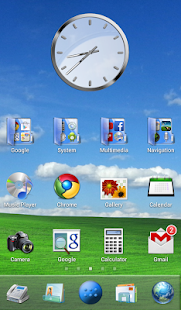 Desktop PC Launcher HD Theme - screenshot