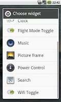 Screenshot of Wifi Toggle Widget
