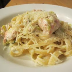 Pasta With Salmon And Leeks