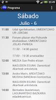Screenshot of JaiApp - Euskal Herriko Jaiak