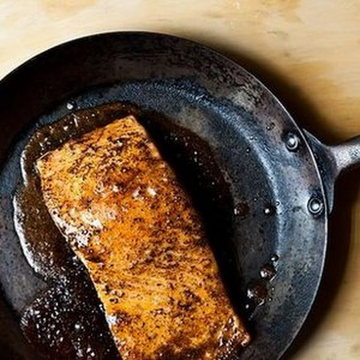 Maple And Mustard-Glazed Salmon With Roasted Brussels Sprouts Recipes ...