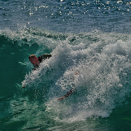 The Wedge Surfers by Jose Matutina - Sports & Fitness Surfing ( surfer, the wedge )