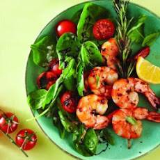 Grilled Prawns on Rosemary Skewers