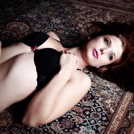 Carmen on the Carpet by Lloyd Seeber - Nudes & Boudoir Boudoir