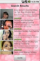 Screenshot of Makeup Tutorials