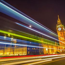 Big Ben London by Salman Shaikh - Buildings & Architecture Public & Historical ( clock tower, nights of london, long exposure, westminster, big ben, london parliment, lodon big ben, bigben )