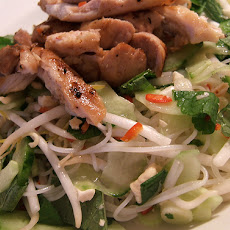 Chicken--Cellophane Noodle Salad With Peanut Dressing
