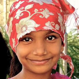 SWEET SIKH SMILE by Doug Hilson - Babies & Children Children Candids ( golden temple, sikh, little girl, sweet face, eyes dark, smile, portrait )