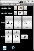 Screenshot of Controle de Pressão Free