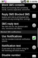 Screenshot of SMS/MMS Blocker Pro