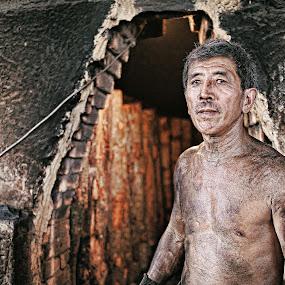 Charcoal Man by Syafizul  Abdullah - People Portraits of Men