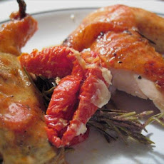 The Perfect Roast Chicken With Garlic and Sun-Dried Tomatoes.