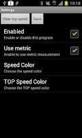 Screenshot of SpeedWatch