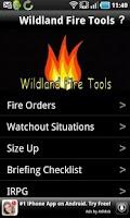 Screenshot of Wildland Fire Tools