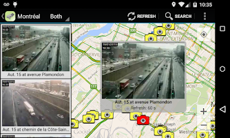 Screenshot of Quebec Traffic Cameras
