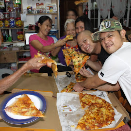 Pizza Time by Florante Lamando - Food & Drink Meats & Cheeses