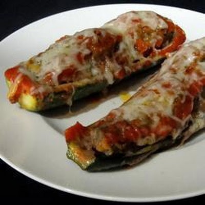 Beef Stuffed Courgette