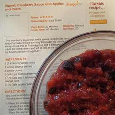 Fruity Cranberry Sauce