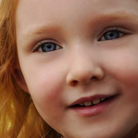Close-up by Cheryl Korotky - Babies & Children Child Portraits