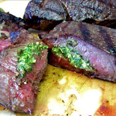 Grilled California Pesto-Stuffed Steaks